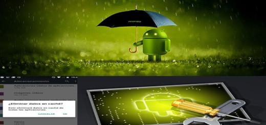 Android bajo la lluvia