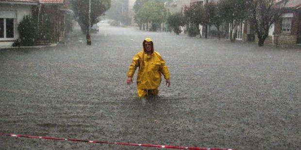 inundación en Mar del plata